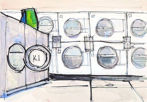 Laundromat Painting