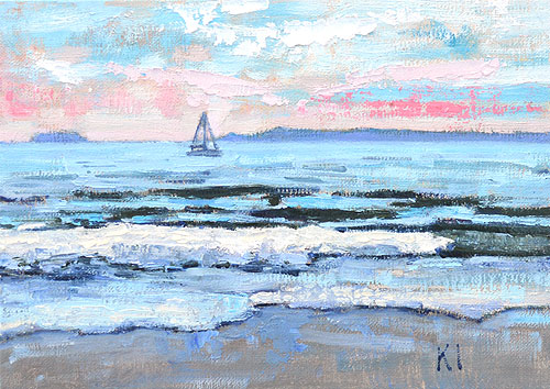 Santa Barbara Painting Landscape East Beach
