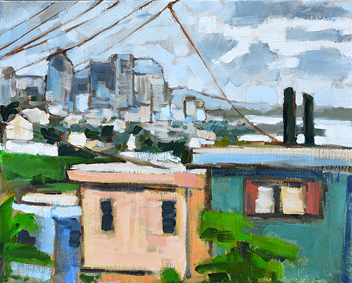 San Diego Painting Cityscape Skyline