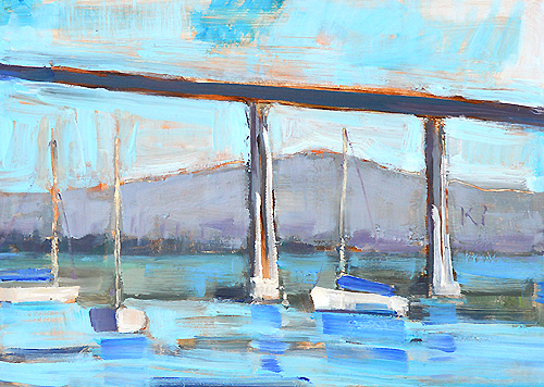 San Diego Coronado Bay Bridge Painting
