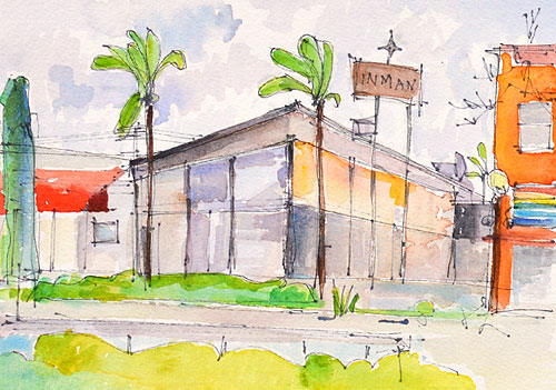 Hillcrest San Diego Painting Watercolor