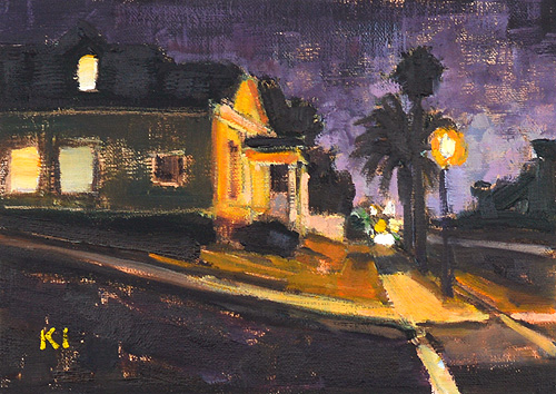 San Diego Painting Nocturne Sherman Heights Barrio Logan