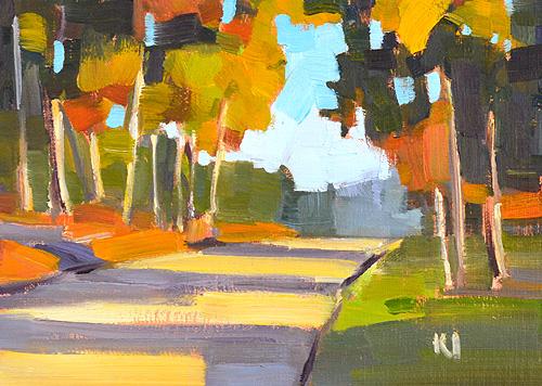 Eucalyptus Landscape San Diego Painting Alla Prima
