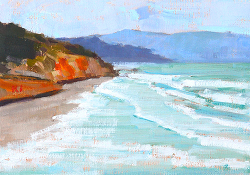 Del Mar San Diego Beach Painting
