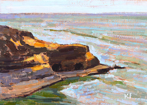 Sunset Cliffs San Diego Painting Oil