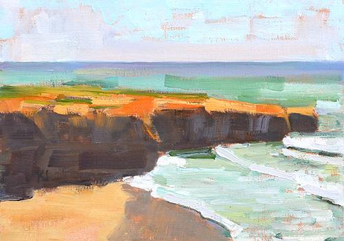 Sunset Cliffs Plein Air Ocean Beach Painting San Diego