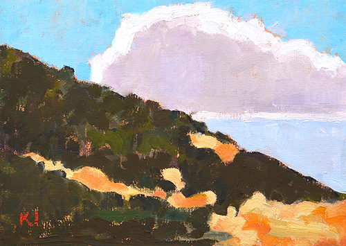 Cabrillo Point Loma Landscape Painting San Diego