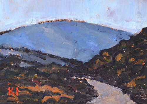 Mission Trails Painting San Diego Landscape Painting