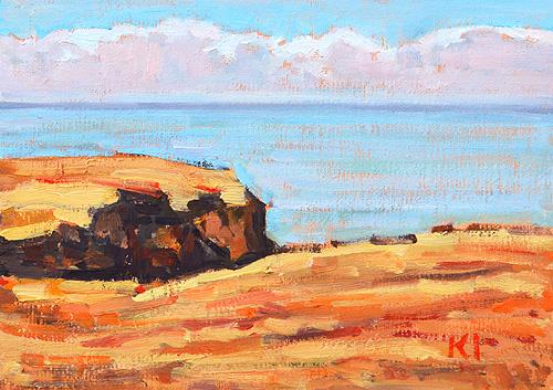 Sunset Cliffs Ocean Beach Painting San Diego