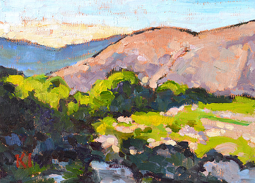San Diego Mountain Landscape Painting