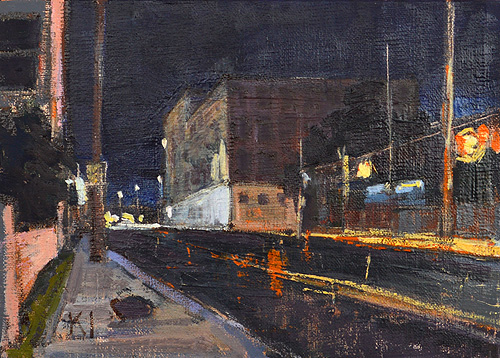 San Diego Nocturne Barrio Logan Painting
