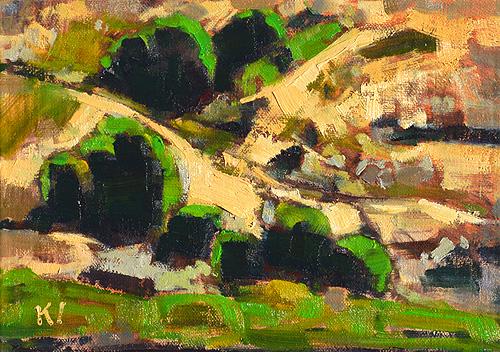 Balboa Park Landscape San Diego Painting