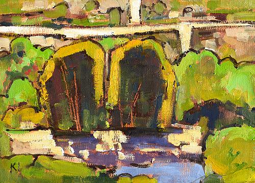 San Diego Painting Balboa Park Landscape