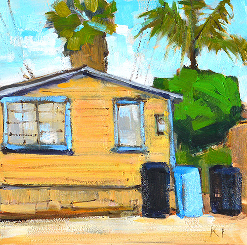 Ocean Beach Alley Painting, San Diego