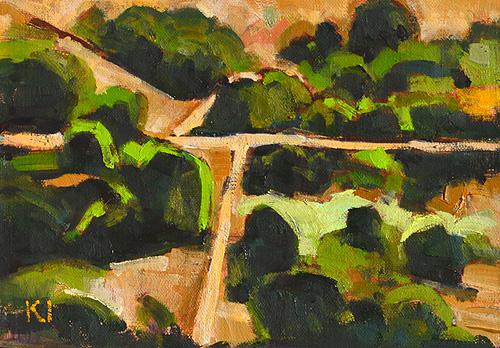 San Diego Landscape Painting Balboa Park