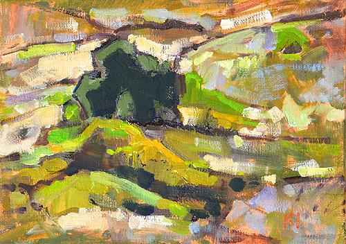 Balboa Park Painting Florida Canyon Landscape