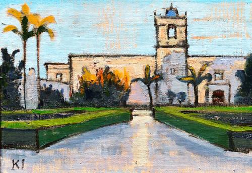 Alcazar Garden San Diego Painting