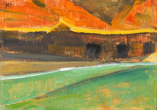 Cabrillo Landscape Painting San Diego Plein Air