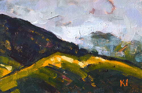 Santa Ynez Valley Mountains Santa Barbara Painting