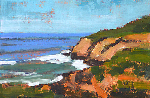 San Diego Landscape Painting Point Loma