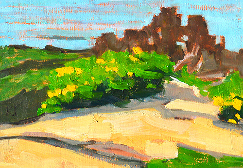 Sunset Cliffs Ocean Beach Landscape Painting San Diego