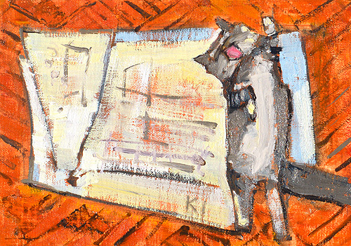 Cat Painting Tuesday