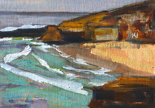 La Jolla Beach Painting Plein Air