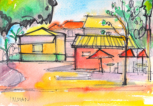 Little Italy Painting San Diego Watercolor