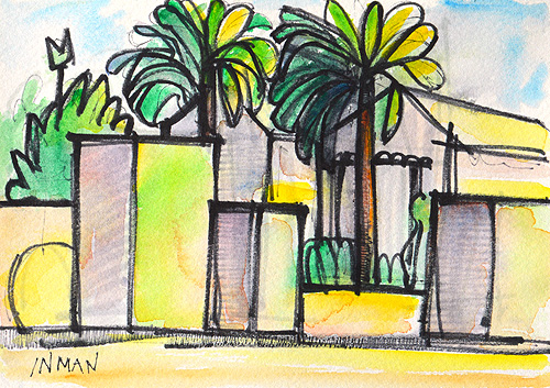 Little Italy San Diego Watercolor