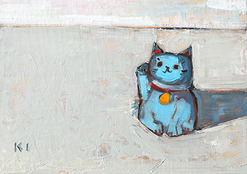 Maneki Neko Painting Still Life