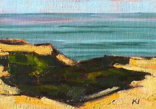 Sunset Cliffs Ocean Beach Painting