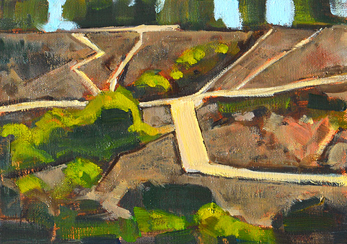 Balboa Park Landscape Painting San Diego