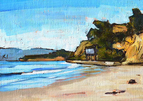 Summerland Beach Painting Santa Barbara