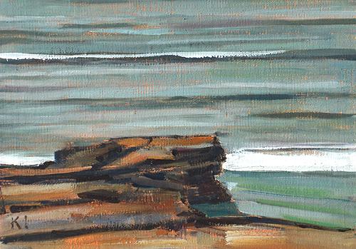 San Diego Beach Painting Cabrillo