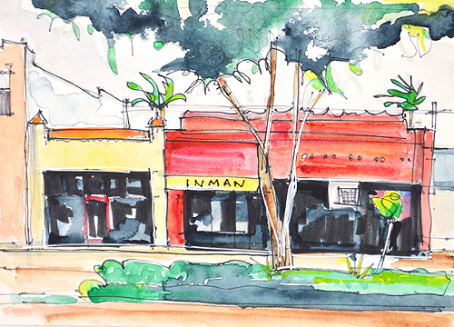 Hillcrest Watercolor Painting Wine Steals