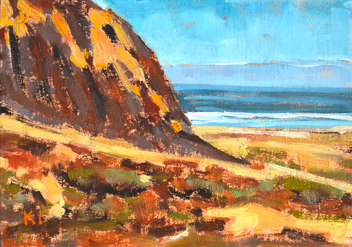 Blacks Beach Bluffs Landscape Painting