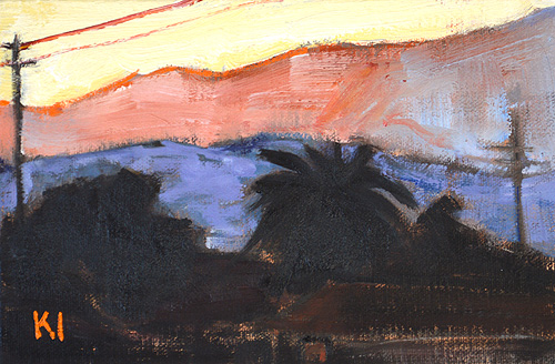 Santa Barbara Sunset Painting