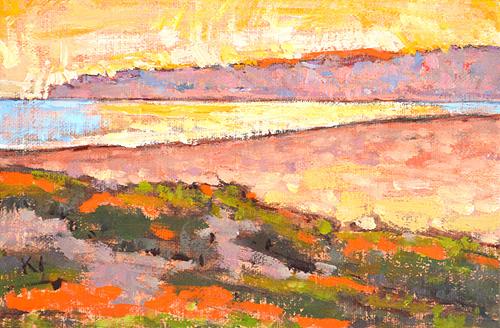 Santa Barbara East Beach Sunset Painting