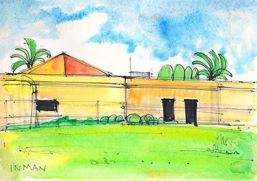NTC San Diego Watercolor Painting Liberty Station