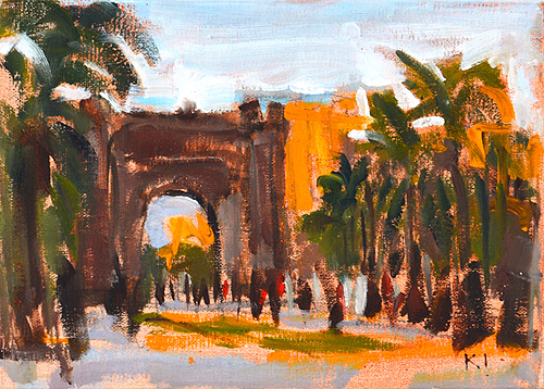 Arc de Triomf Barcelona Painting