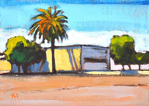 Imperial Avenue Barrio Logan San Diego Urban Landscape Painting