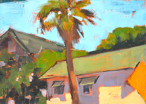 Beach Cottage Ocean Beach Painting San Diego