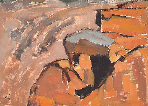 Rocks, Cabrillo Painting San Diego Landscape