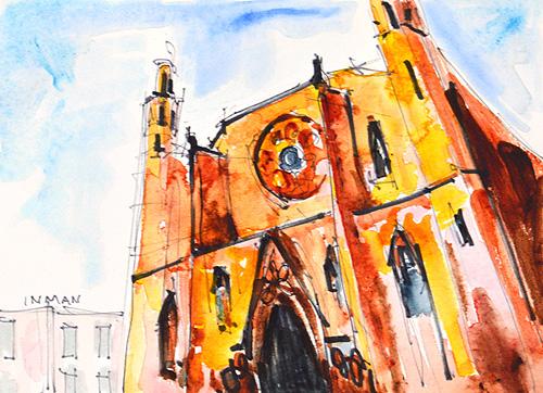 Santa Maria del Mar, Barcelona Painting