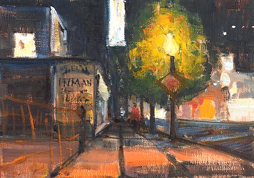 Night Painting Little Italy San Diego