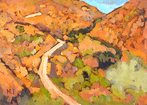 Mission Trails Painting Landscape San Diego