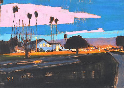Santa Barbara Painting Nocturne Shoreline Park