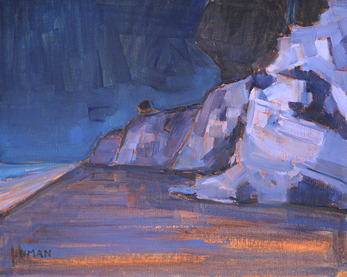 Night Beach Painting California