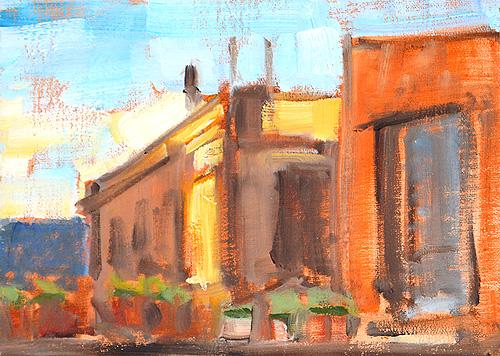 Barcelona Painting Rooftops el Born