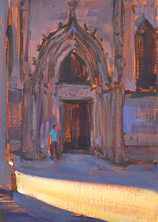 Barcelona Cathedral Door Painting Picasso